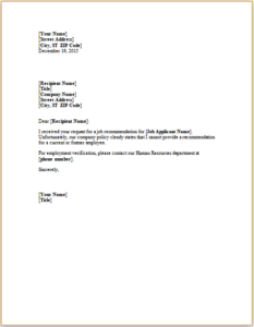 Job Refusal Letter Download At HttpWwwTemplateinnCom