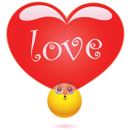 Smileys App With 1000 Smileys For Facebook Whatsapp Or Any Other Messenger Emoticon Love Heart Bubbles Happy Face Emoticon