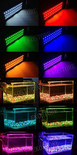 EKOSTORE Aquarium Hood Lighting Color Changing Remote Controlled Dimmable LED Light for Aquarium/ Fish Tank High Quality 6W 36 LEDu0027s Extendable upto 19.5 ... & EKOSTORE Aquarium Hood Lighting Color Changing Remote Controlled ...