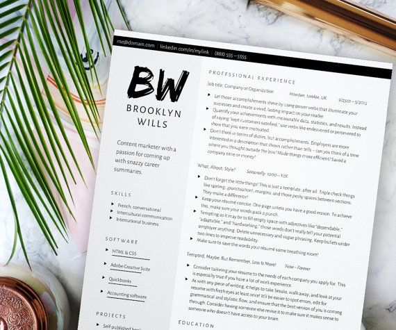 Edgy Resume Template For Word Grayscale Cv  Column Resume