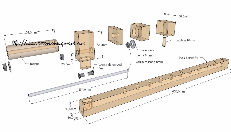 Planos del sargento de madera planos de carpinter a for Planos de carpinteria de madera