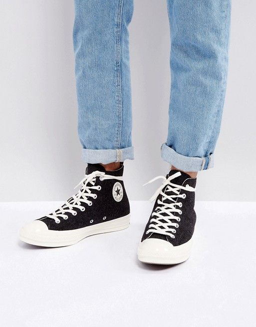 Converse Chuck Taylor All Star '70 Hi Felt Sneakers In Black 157481C