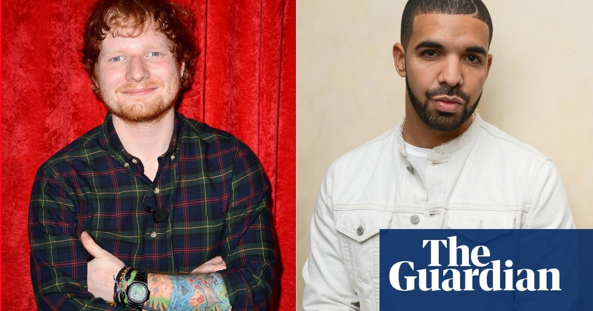Drake and Ed Sheeran most streamed artists on Spotify this