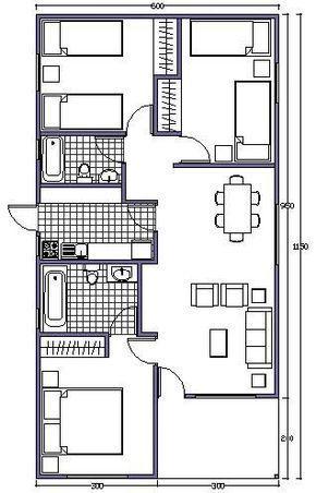 Plano de casa de 63m2 mi casa for Plano de mi casa