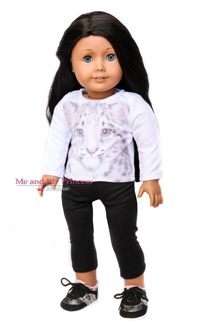 White and Black Zebra Doll Dress Clothes Fits American Girl Dolls