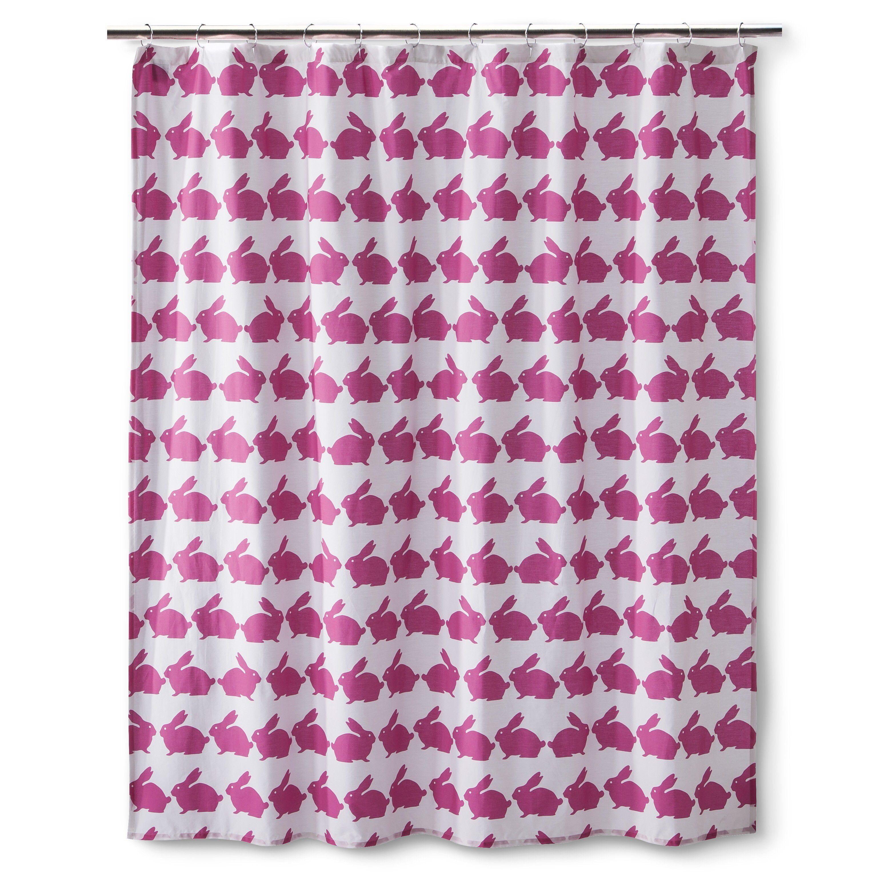 Anorak Rabbit Shower Curtain