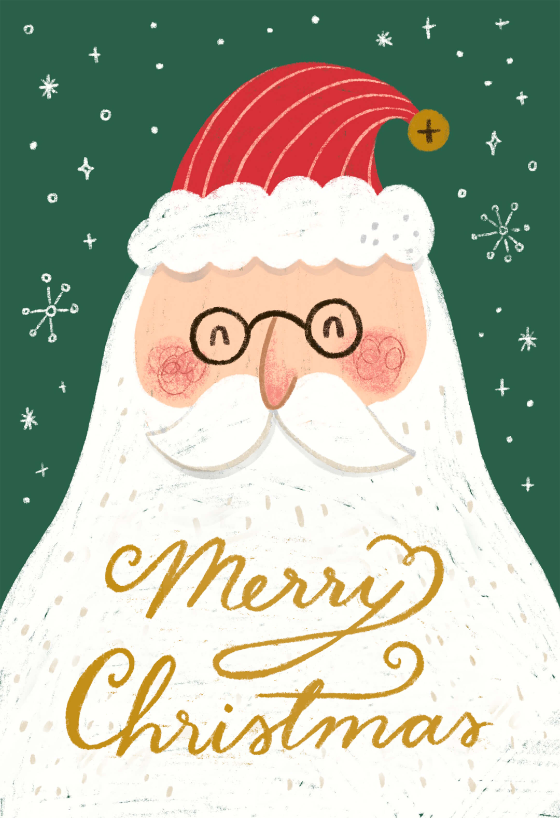 Santa Portrait Christmas Card Greetings Island Christmas Card Illustration Animated Christmas Card Christmas Invitations Template