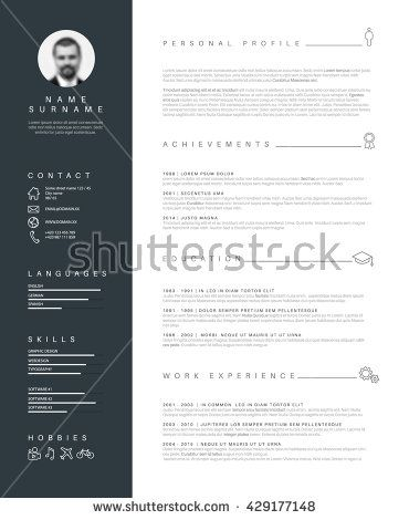 Vector Minimalist Cv Resume Template With Nice Typogrgaphy Design Cv Resume Template Resume Template Resume Template Word