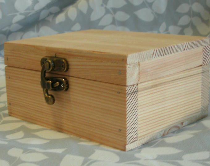 Handmade Unfinished Box Mini Box Wood Box Small Box Pine Box Jewelry Box Trinket Box Gift Box Un Wood Craft Projects Wood Crafts Unfinished Wood Crafts