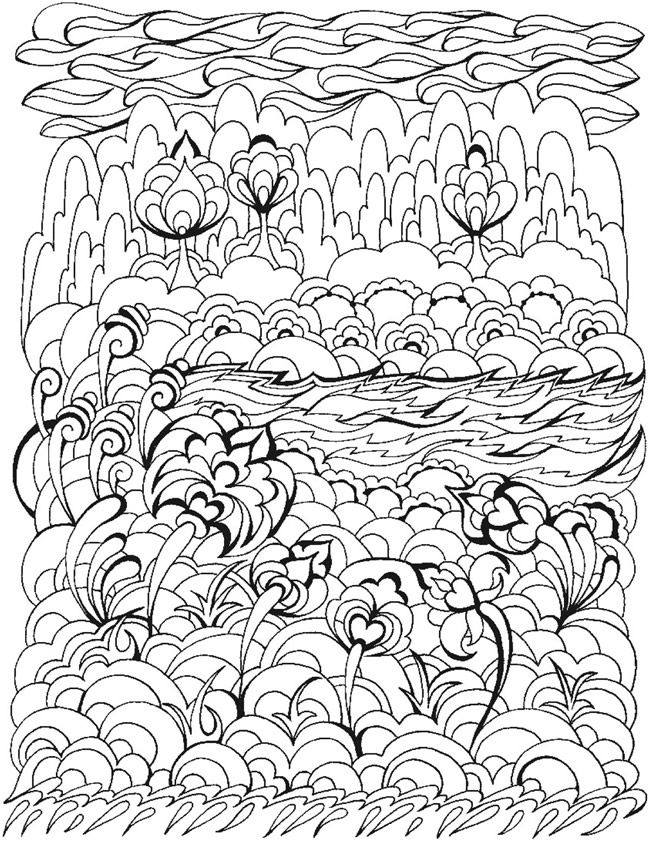 Welcome To Dover Publications Bliss Dream Coloring Book Art Pattern Coloring Pages Coloring Pages