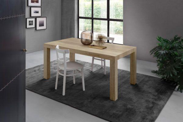 tavolo da pranzo allungabile cm 90×160/240 finitura Rovere