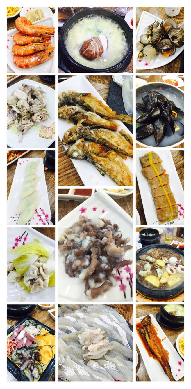 Seafood restaurant course for 4 people.. Enough to full....
