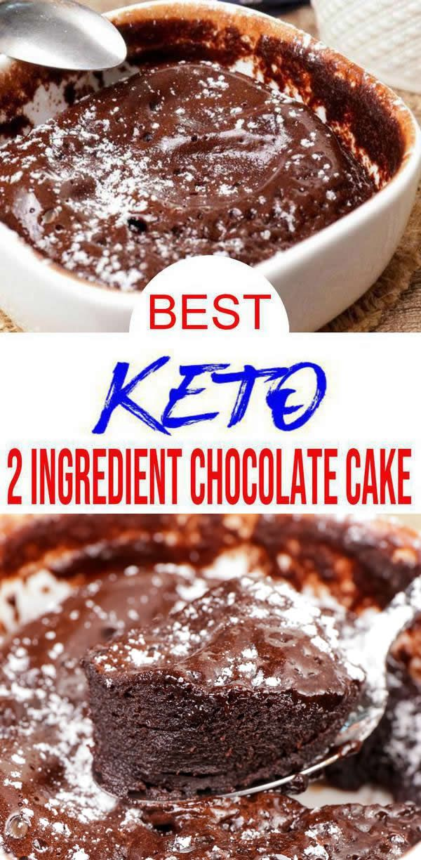 EASY 2 ingredient Keto Cake! This chocolate cake is so tasty. Easy keto recipe that is healthy, sugar free, gluten free & low carb. Great as quick snacks ideas, keto desserts, keto breakfast or delish sweet treat. Easy to make recipe to eat healthier great keto beginners recipe for low carb diet to add to keto meal plan - homemade not store bought. Check out 2 ingredient #chocolate cake - simple & easy recipe. Great for New Years healthy food, Valentines. #lowcarb