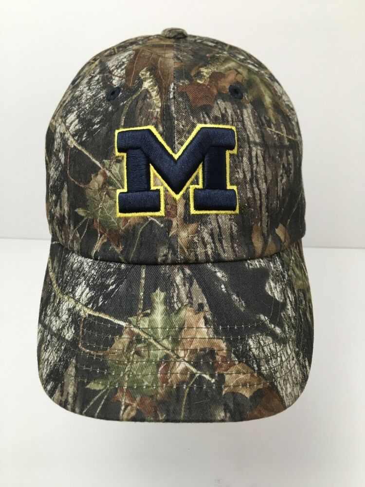 check out 3378d 56e83 U Of M Hat Real Tree Camo Cap Michigan Block M Letter Embroidered   CaptivatingHeadwear  MichiganWolverines