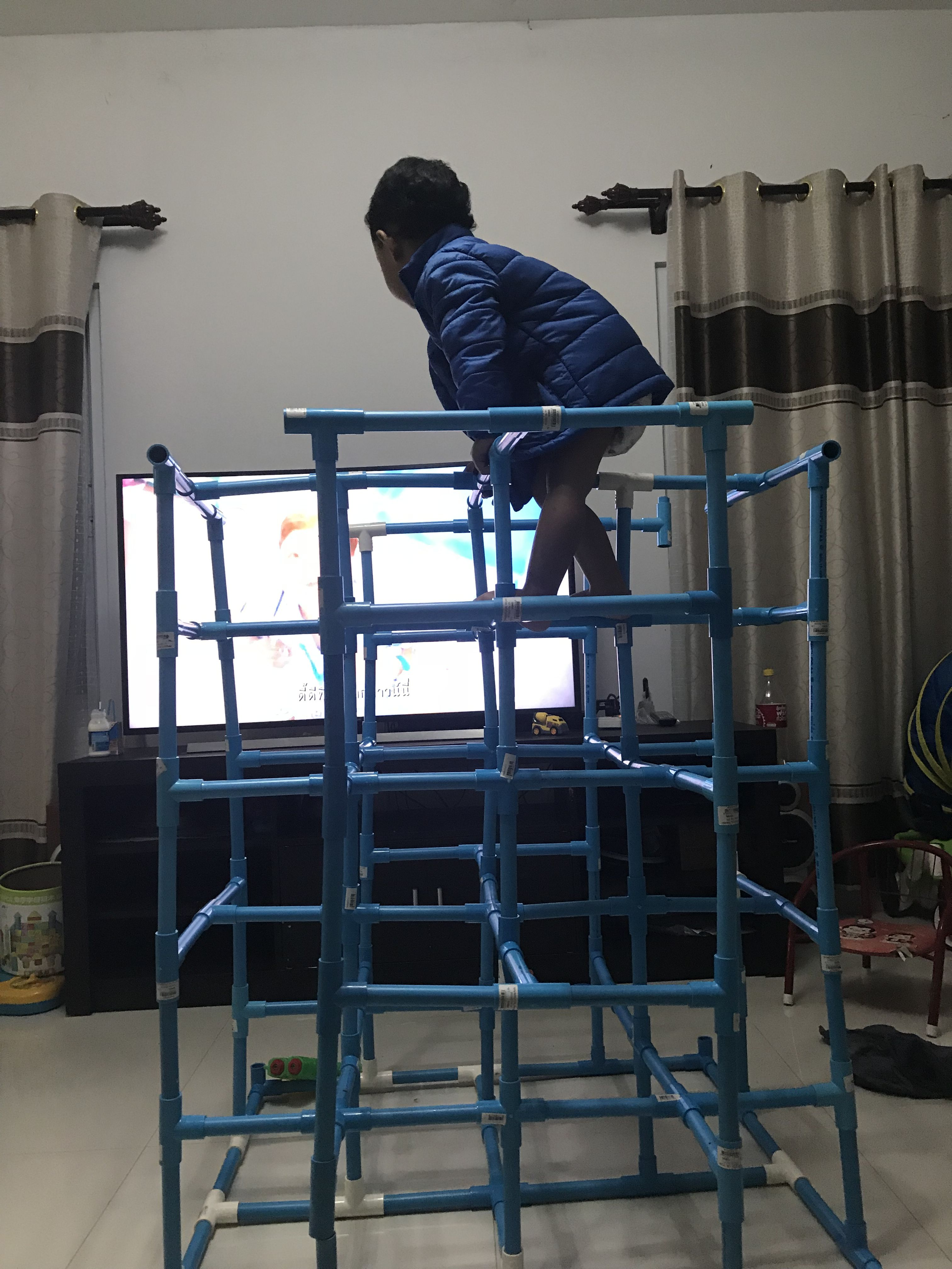 Pvc Jungle Gym Diy Baby Gym Diy Gym Diy Kids Playground