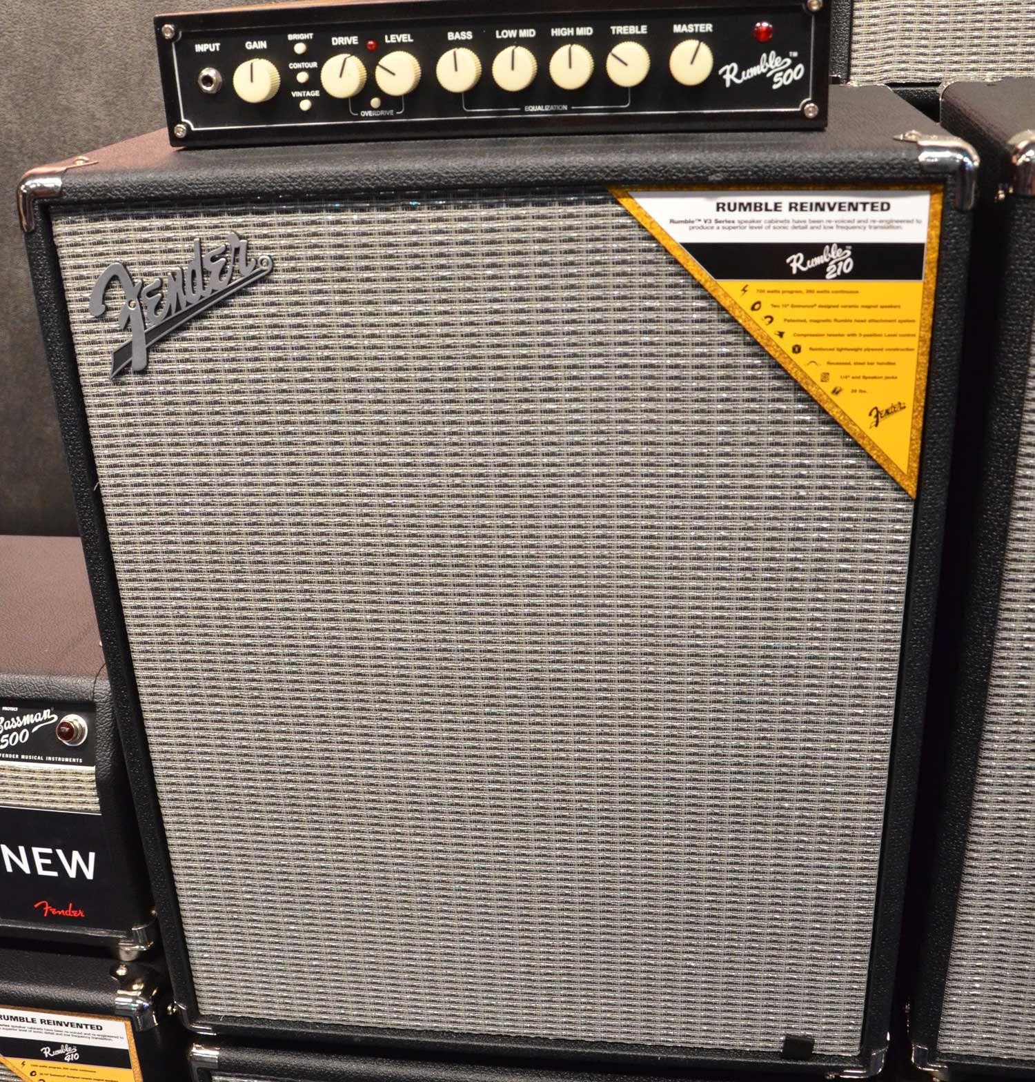 Fender Rumble 500 Bass Amp & Fender Rumble 210 Bass Cabinet | Bass ...