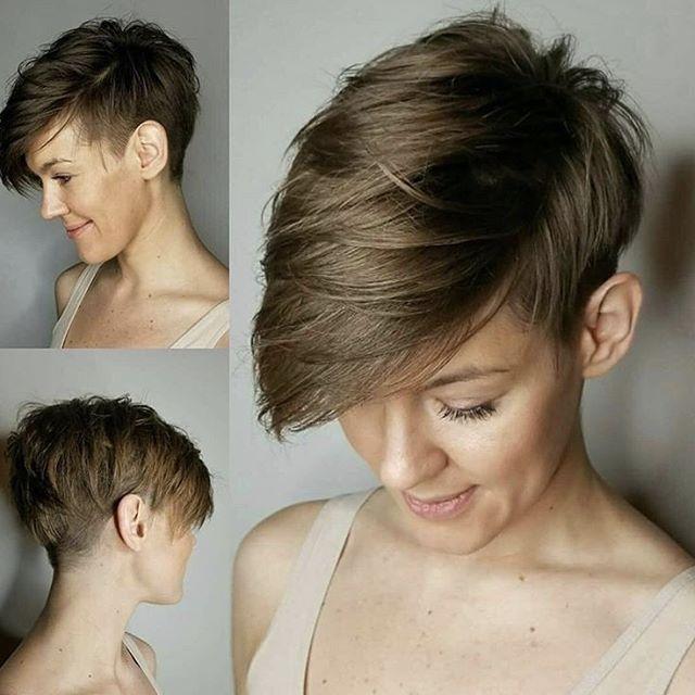 Haare kurzhaarfrisuren frauen dunkle Diese weisse