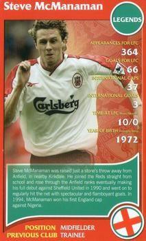2007 Top Trumps Specials Liverpool #NNO Steve McManaman Front
