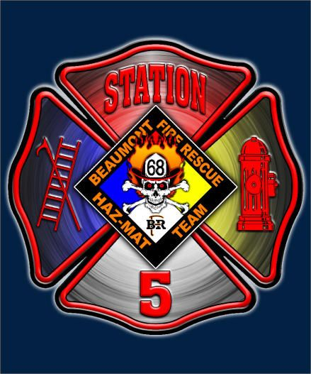 Beaumont Fire And Rescue Services Station 5 Logo
