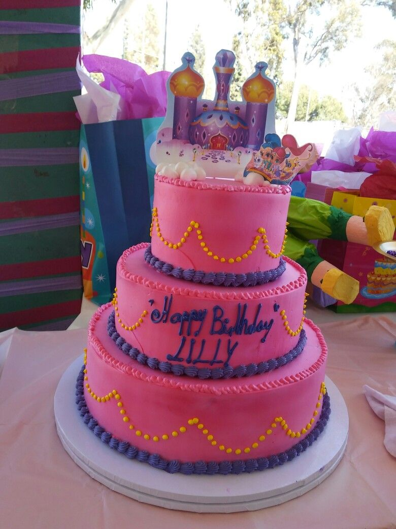 Shimmer And Shine Cake Birthday Party Ideas Shimmer