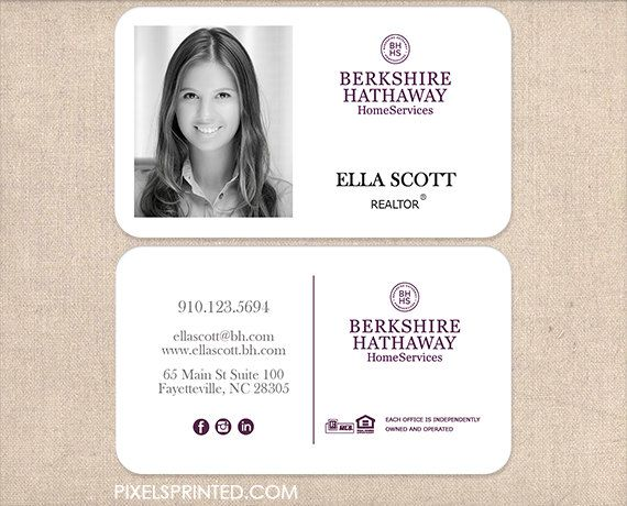 keller williams realtor business cards - thick, color both sides ...