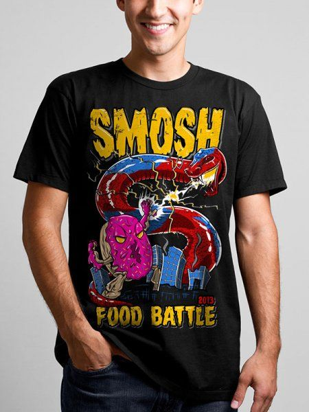 Food Battle 2013 Tee Smosh T Shirt Smosh For Guys Smosh Shirts