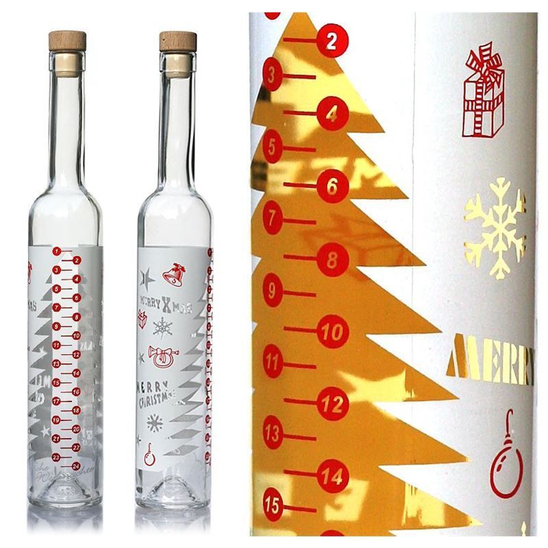 Adults Advent Calendar 500ml advent calendar bottle Advento - fill with favourite liquer or drink #wineadventcalendardiy Adults Advent Calendar 500ml advent calendar bottle Advento - fill with favourite liquer or drink #wineadventcalendardiy