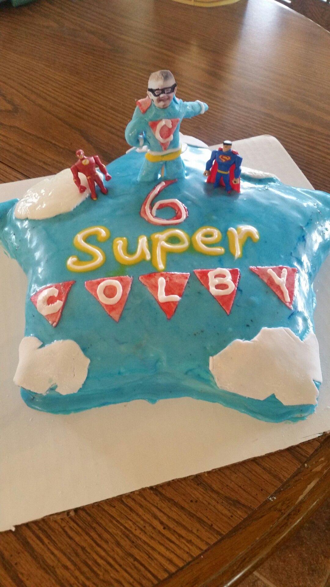 Super Hero 6 Year Old Boy Birthday Cake