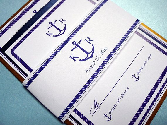 Anchors Aweigh Nautical Themed Wedding by PrettyStationeryShop