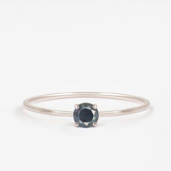 bague diamant noir naturel