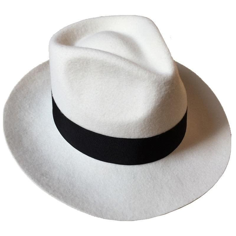 ceab6f22f2e Classic Men s Wool Felt Godfather Fedora Hat - Gangster Mobster Michael  Jackson Gentleman Hat -MANY COLORS