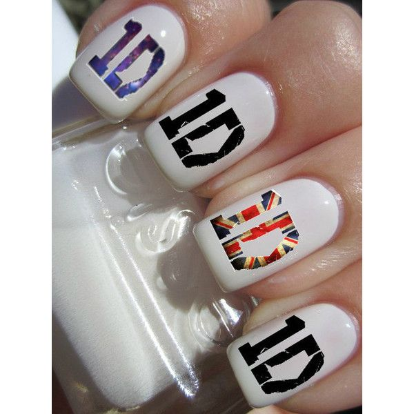 One Direction Nail Decals 42 per purchace ($4.50) found on Polyvore