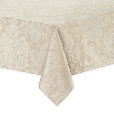 Waterford Linens Berrigan 70 X 126 Oblong Tablecloth In Gold