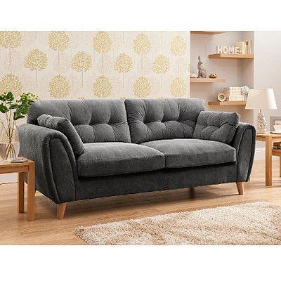 richmond large sofa in pewter - Large Sofas