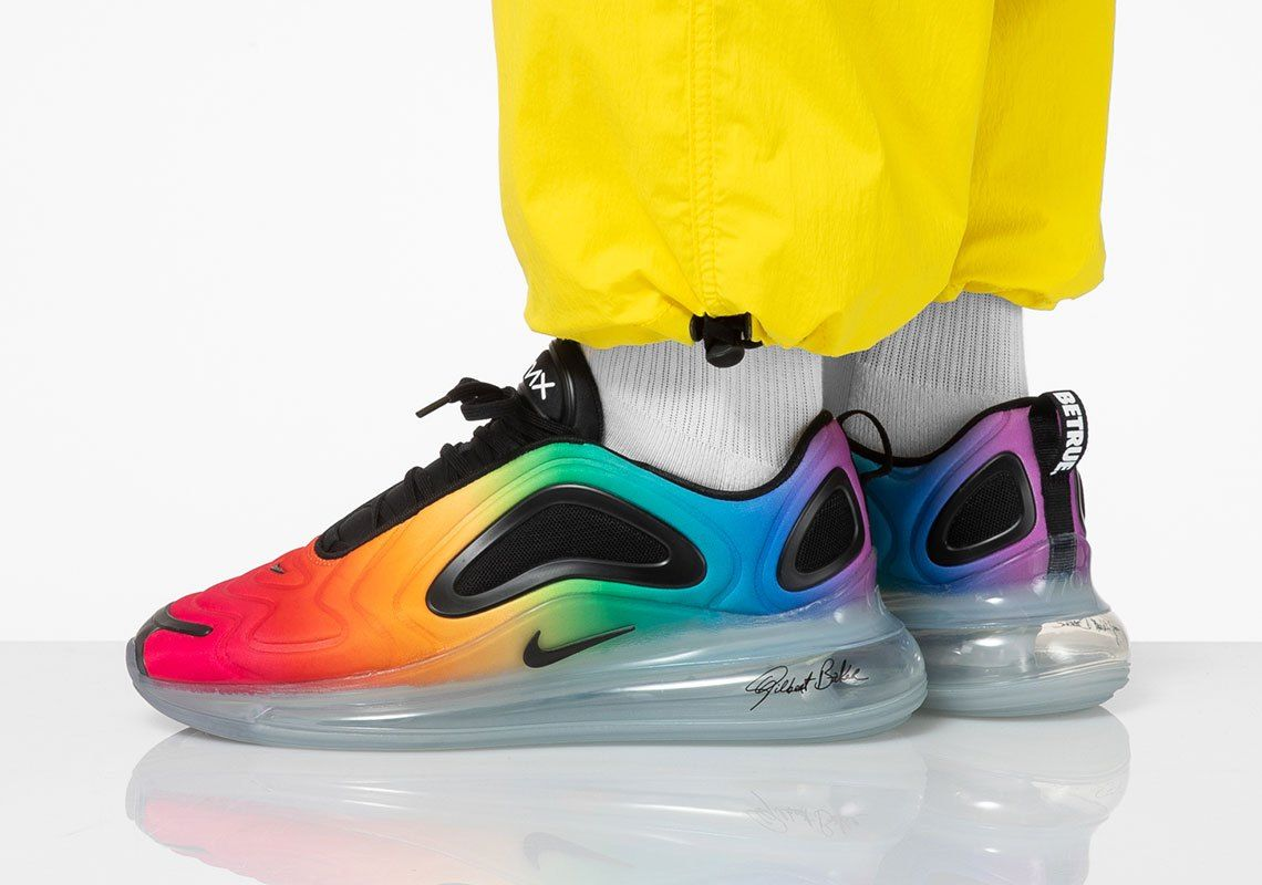 buying new excellent quality speical offer Nike Air Max 720 BE TRUE Honors Gilbert Bakers Rainbow Flag ...
