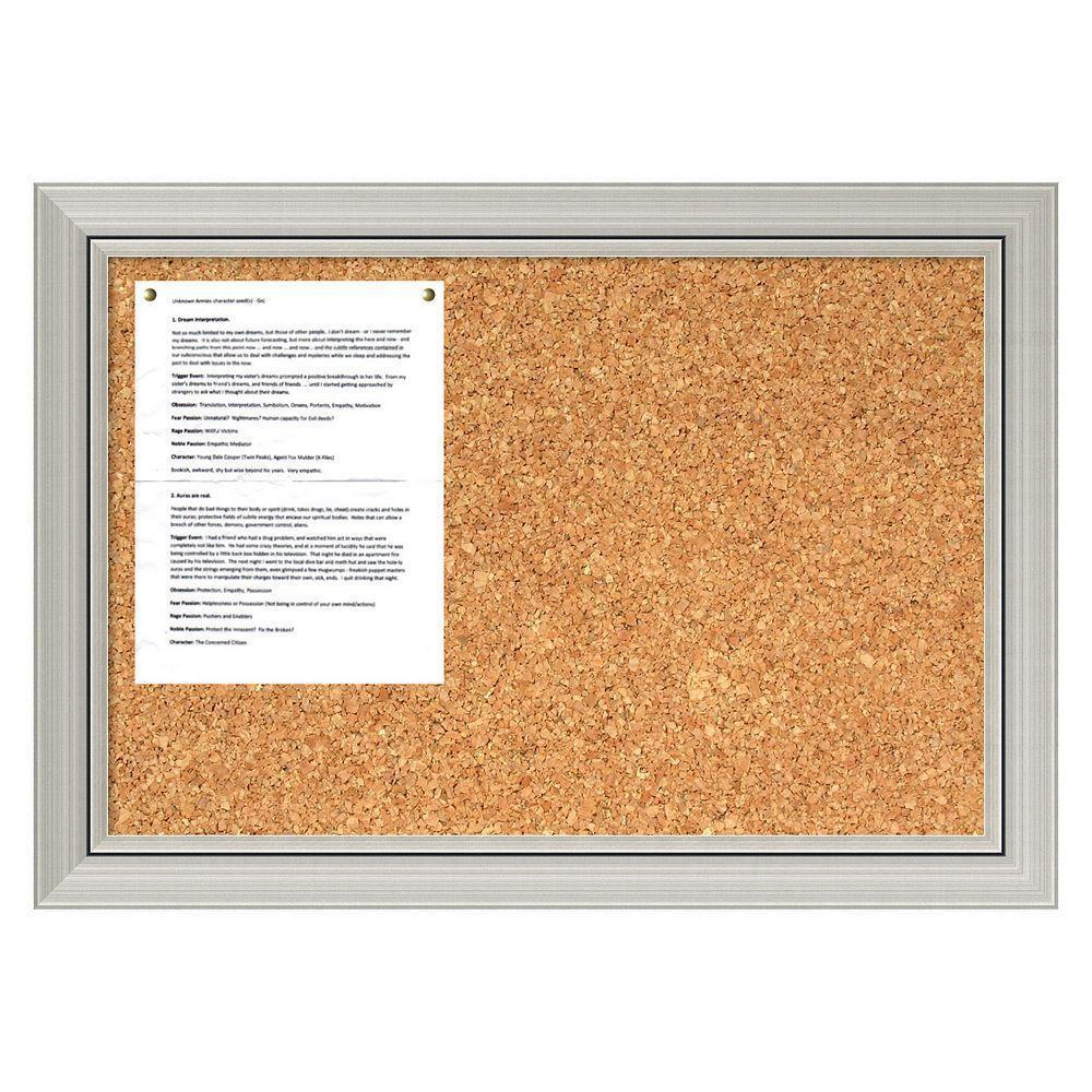 Jelinek Cork Gym Bulletin Board 18 X 24 Framed Cork Bulletin