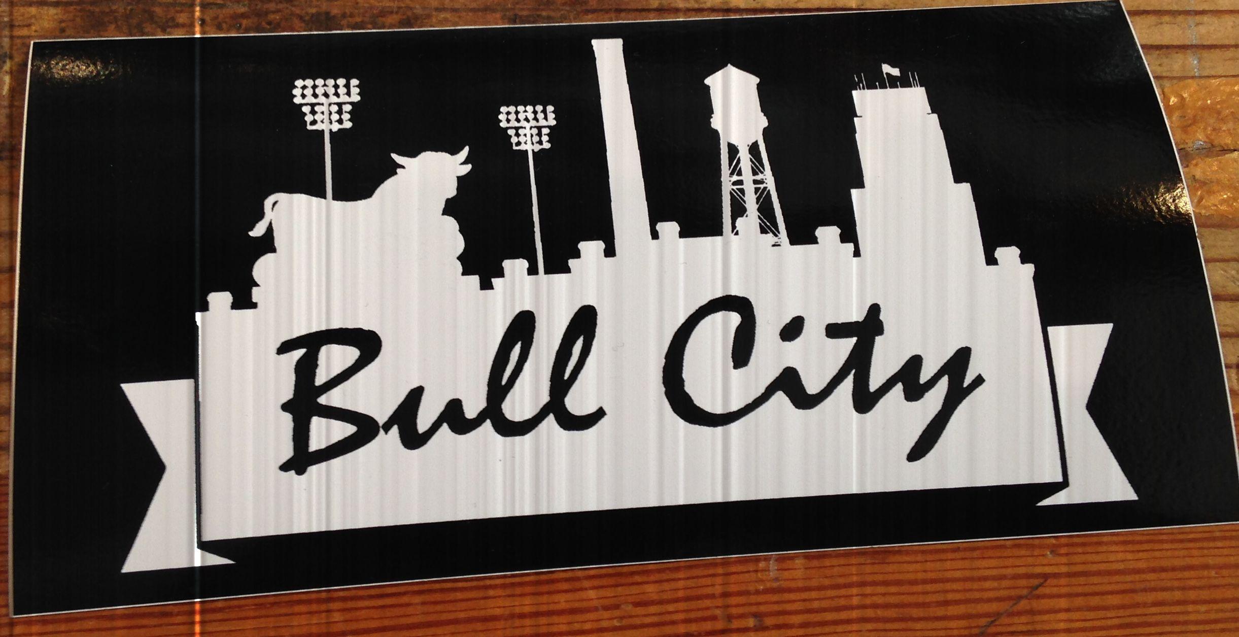 Bumper sticker design ideas - Bull City Skyline Bumper Sticker