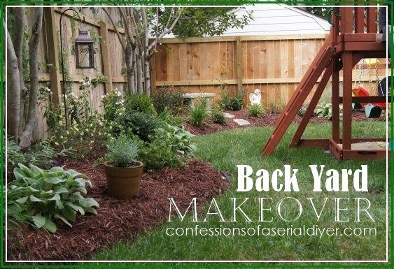 Deep Mulch Gardening , Back Yard Makeover Outdoor Decor Pinterest