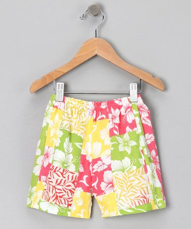 Take a look at this Citrus Punch Patchwork Shorts - Infant, Toddler & Girls by Silly Sarongs on #zulily today!