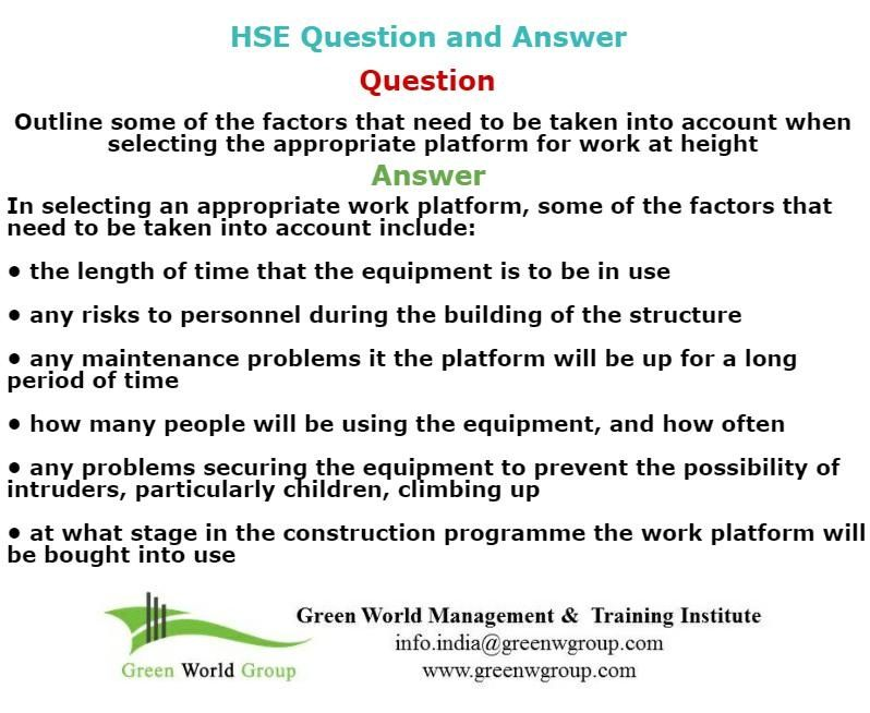 HSE question & answer | Nebosh exam questions | Past exam