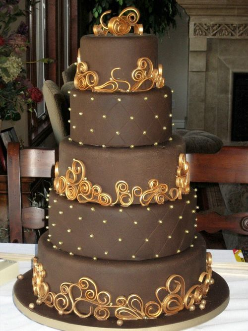 Chocolate Wedding Cakes Big Designs Pinterest Wedding cake and