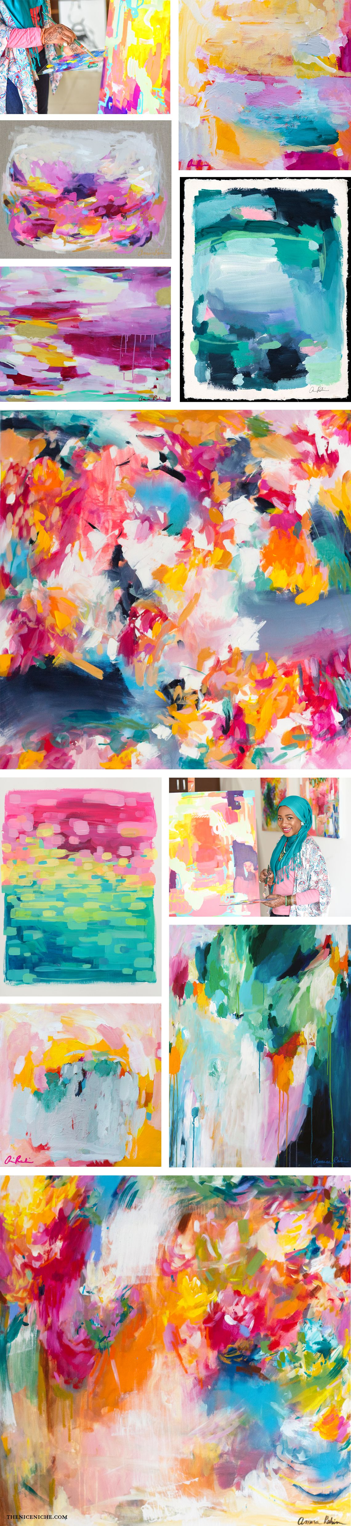 Amira Rahim Colorful Abstract Paintings. Her Work Is A True Inspiration!