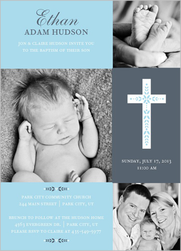 Cross Of Boy Baptism Invitations Baby Baptism Invitations Boy