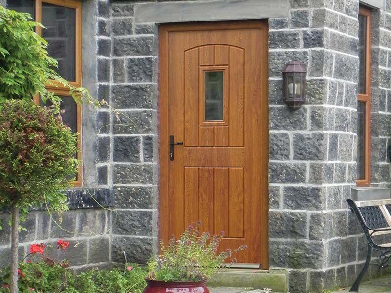 Best Golden Oak Rockdoor Composite Door Stair Landing Doors 400 x 300
