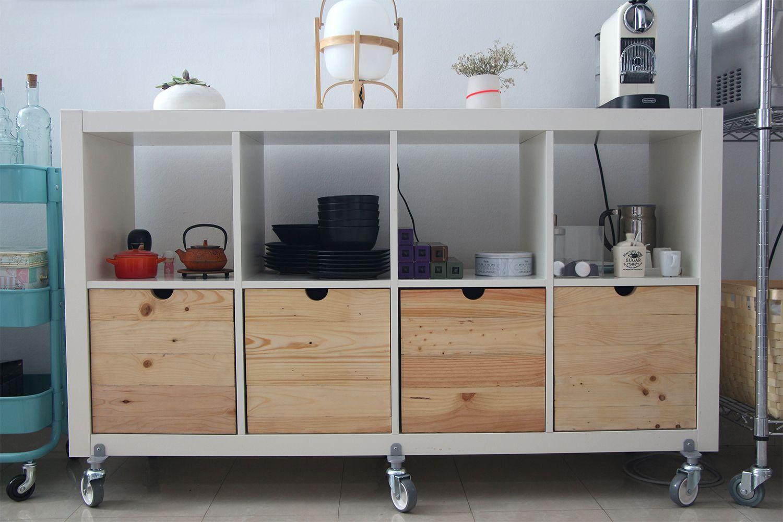 Cajones de madera de palet reciclada hechos a medida para el mueble ...