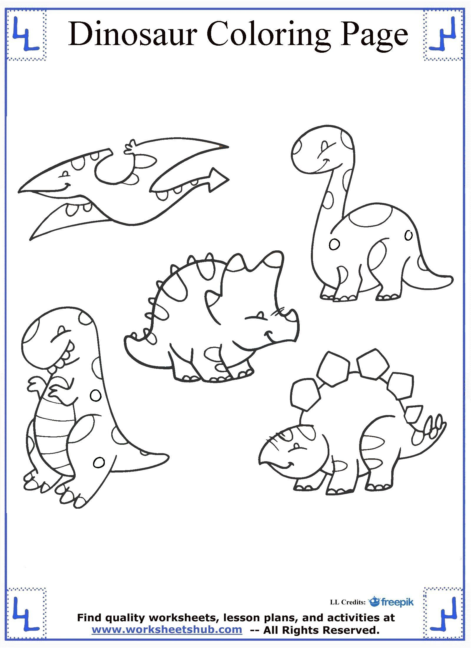 Cute and Cuddly Dinosaur Coloring Page | Dinosaur coloring ...