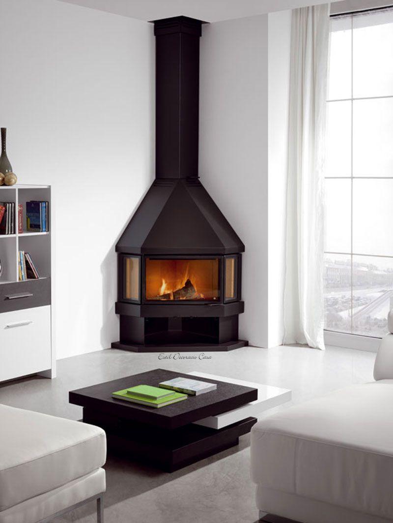 Poele A Bois De Coin prettiest corner fireplace | poêle à bois en coin, poele a