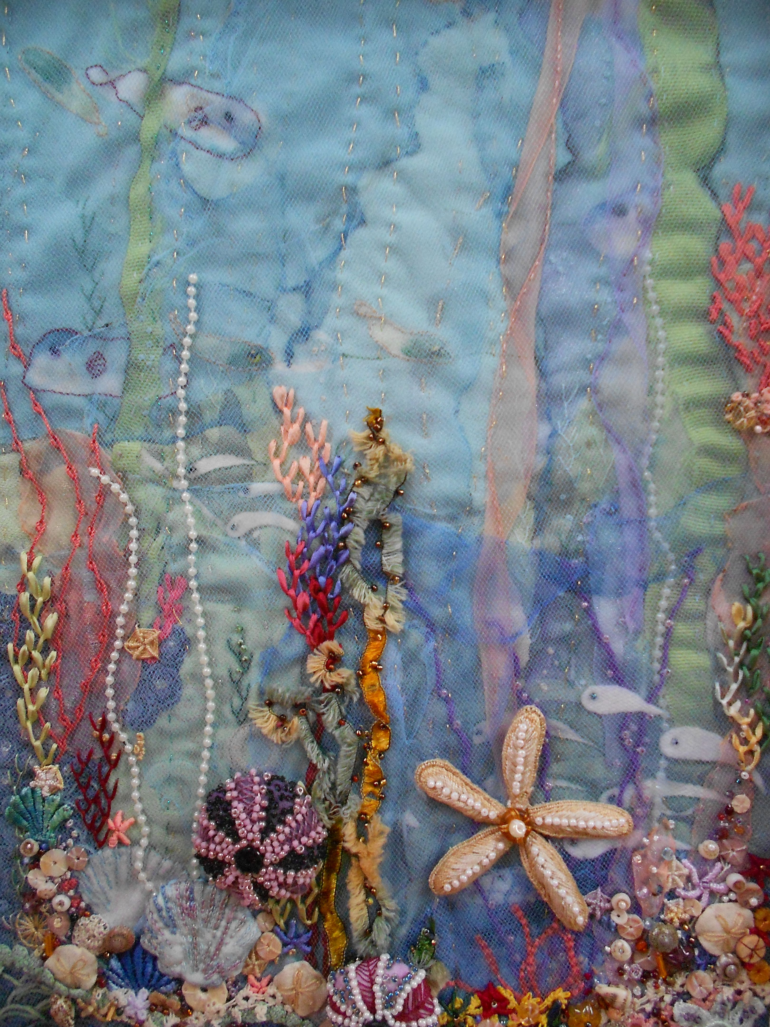 Undersea fantasy artist nancy larsen multi media embroidery undersea fantasy artist nancy larsen multi media embroidery voltagebd Choice Image