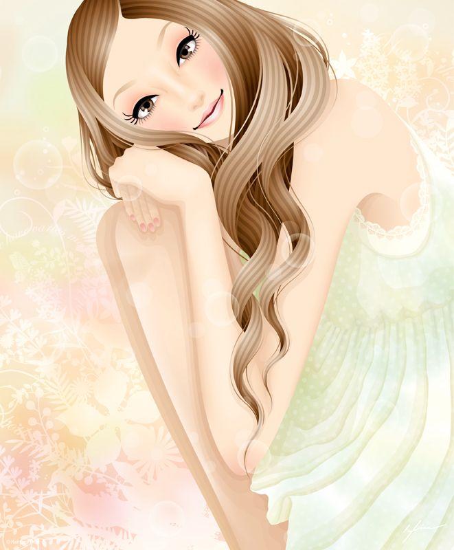 Delicate Girl / Ragazza delicata - Illust. by Kentaro Hisa (Fukushima, Japan)