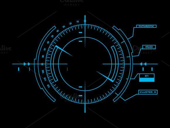 Futuristic Hud Touch Gui Elements Technology Design Graphic Wattpad Cover Template Futuristic